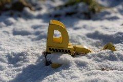 Google Pixel 4a - Kamera - Spielzeug im Schnee