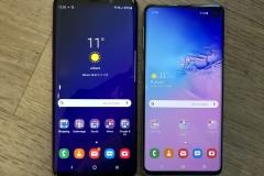 Größenvergleich S9+ (links) vs. S10 (rechts)