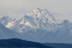 Berg in den Alpen
